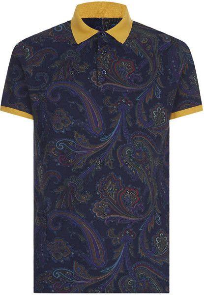 Love this: ETRO Paisley Polo Shirt @Lyst