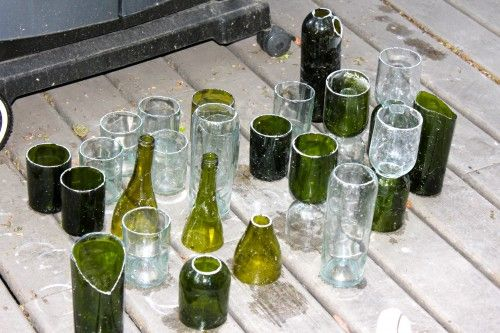 how to cut wine bottles into glasses