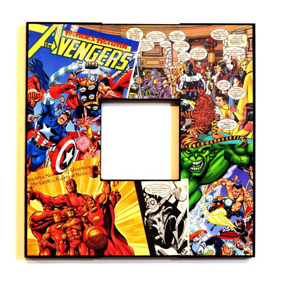 Avengers Picture Frame.   I NEED this!