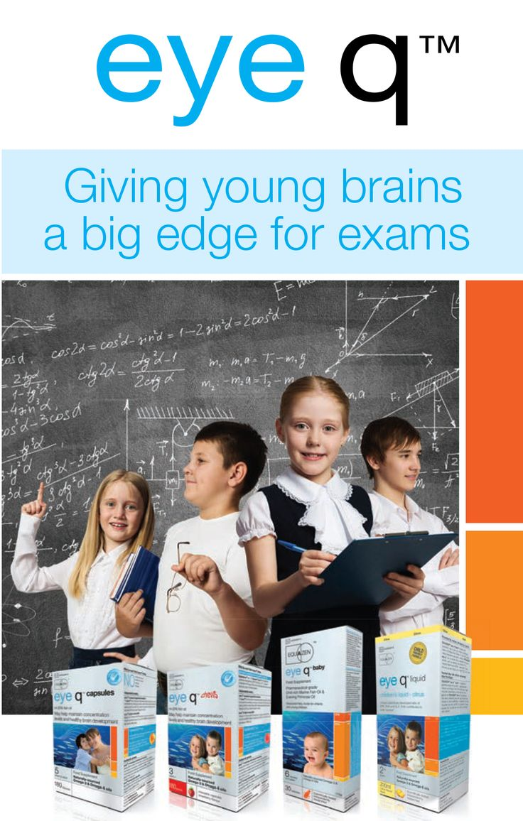Eye q - Giving young brains a big edge for exams!  Endorsed by experts and backed by strong independent research, eye q offers a unique and specific formulation of premium omega-3 and omega-6 supplements effective in assisting brain function and development, nutritionally supporting young minds and improving ADHD symptoms.  www.eyeqsa.co.za