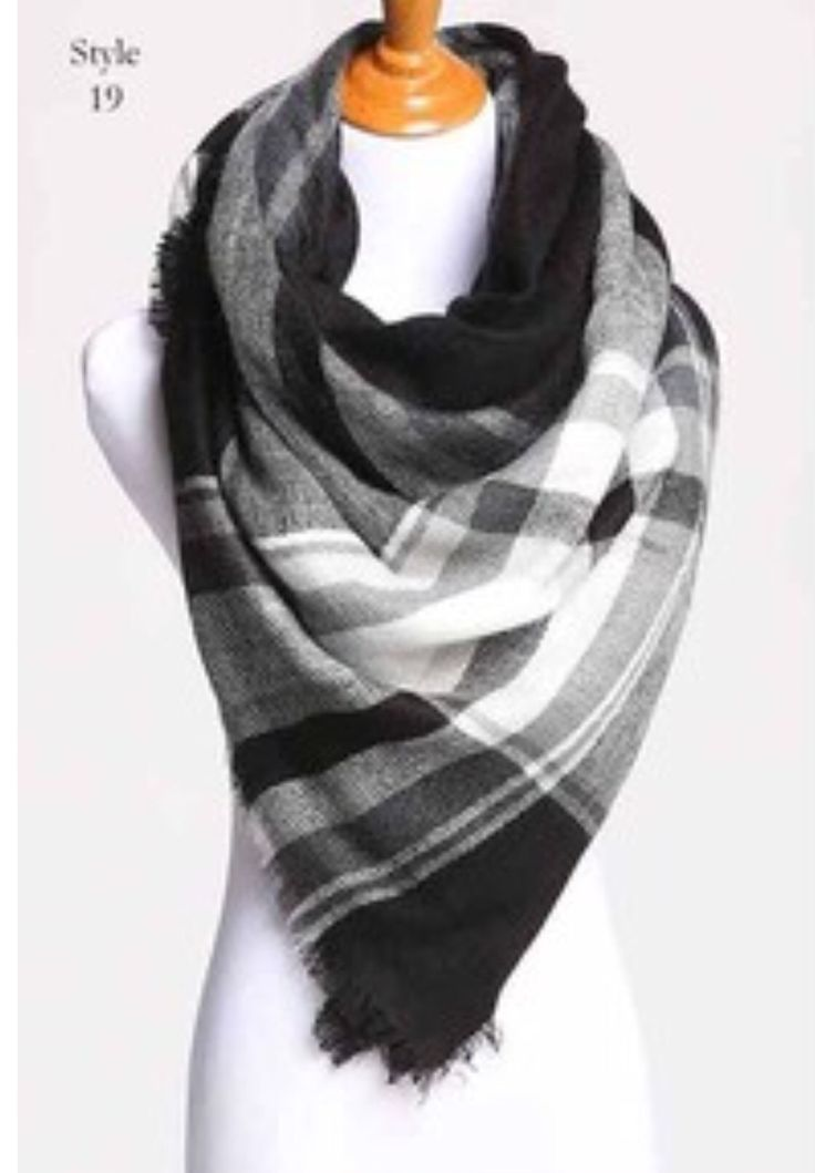 Flannel Blanket Scarf (Several Colors Available)