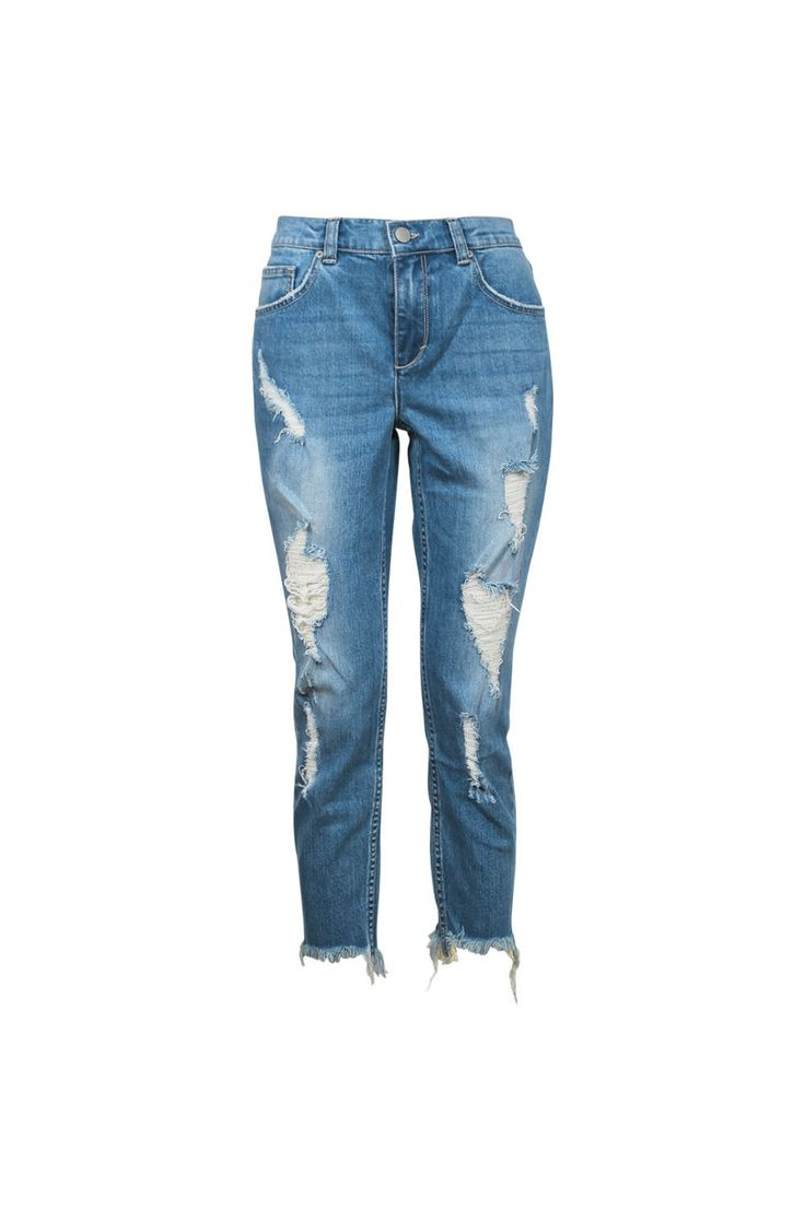 DISTRESSED CIGARETTE JEAN