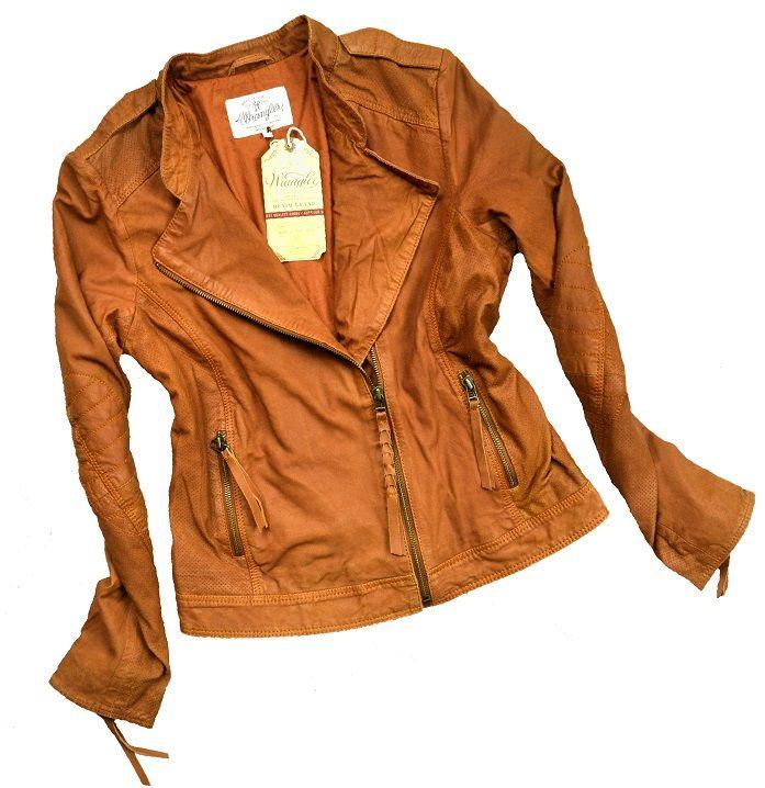 Wrangler Kurtka Skora Ramoneska Camelowa Wiosna M 6745389844 Oficjalne Archiwum Allegro Red Leather Jacket Jackets Fashion