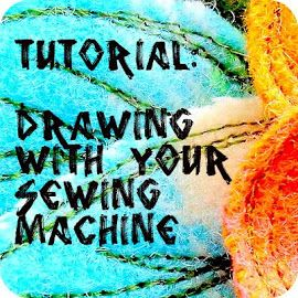 a little vintage doll: Drawing with your sewing machine tutorial