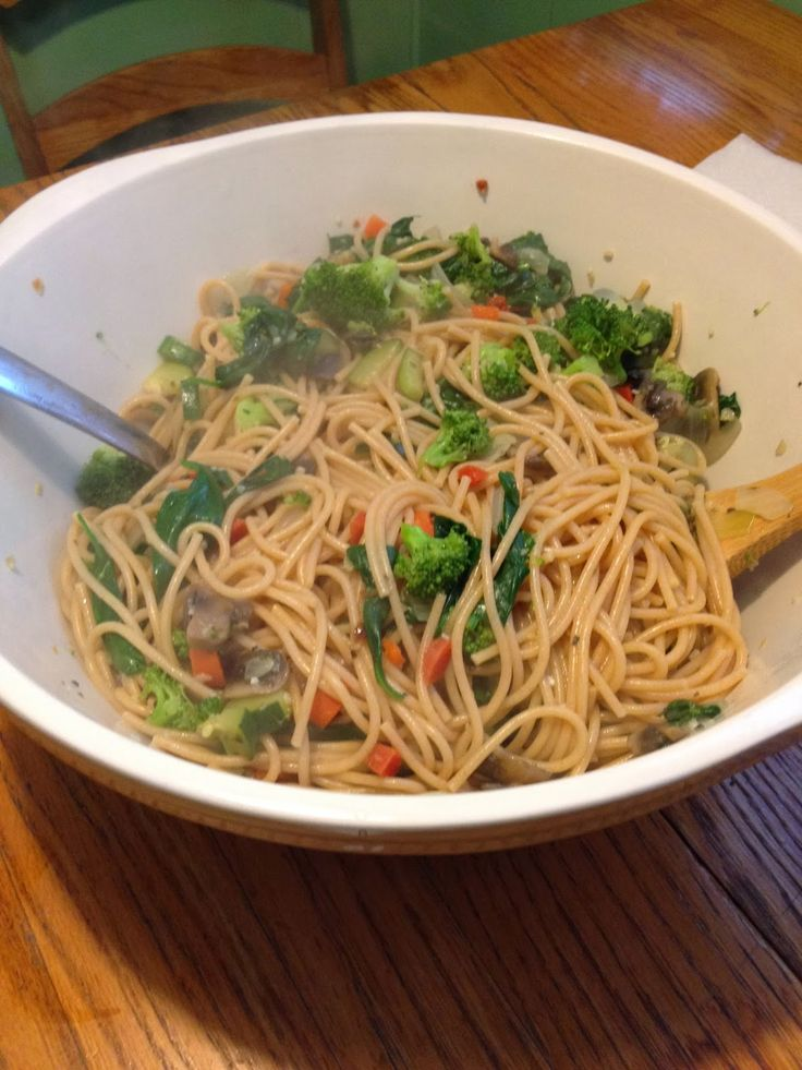 Cooking With Suzanne: Daniel Fast Day Eight: Lunch Pasta and Vegetables
