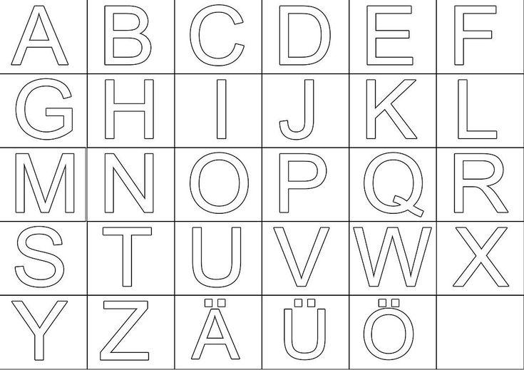 großbuchstaben zum ausdrucken  buchstaben vorlagen zum