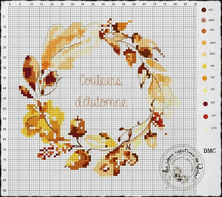 Les Idees Creatives De Rachel- couleurspassions.canalblog.com -  grille automne 2016