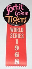"1968 PM10 Baseball Pin/Coin Detroit Tigers ""World Series"" Stadium Pinback v3"