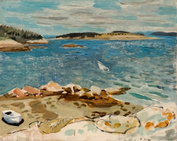 Penobscot Bay: Fairfield Porter 1952 (the Parrish Art Museum, Southhampton, NY)