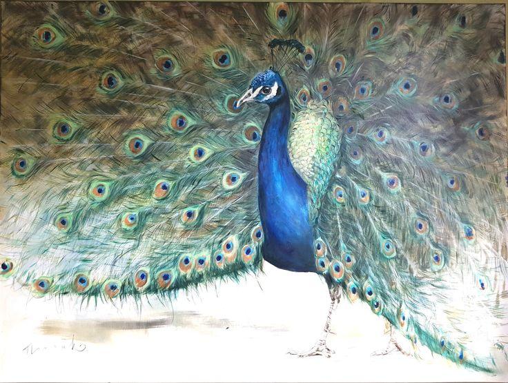 Oilpainting #peacock by Nanouk Weijnen