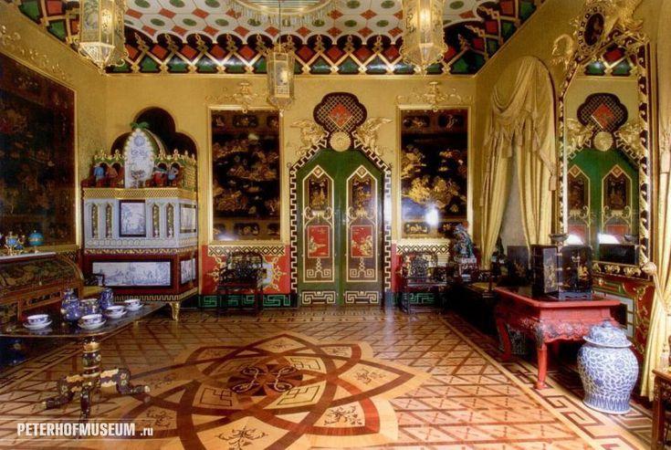 Петергоф,  Большой  дворец. Западный китайский кабинет.