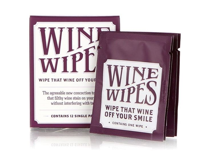 Wine Wipes, Single Disposable Wipe, 10 Individual Wipes Per Box,