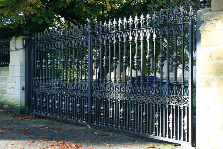 Radleigh wrought iron gates are perfect for any driveway. 0% finance available. Visit Europe's largest Wrought Iron electric gate showroom.