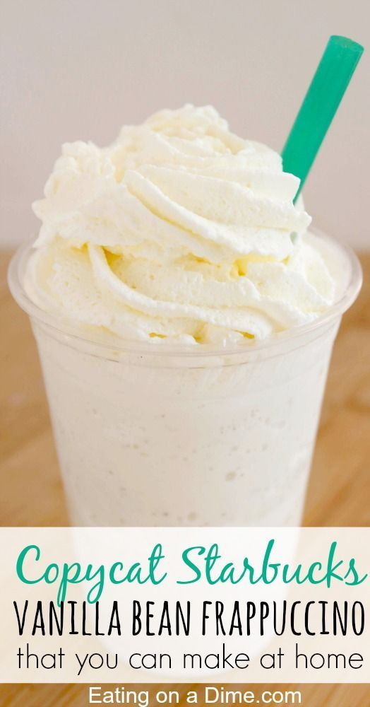 One of my favorite ways to save money is to make copy cat recipes at home. You just have to try this easy Starbucks Vanilla Bean Frappuccino Recipe that you can make at home.