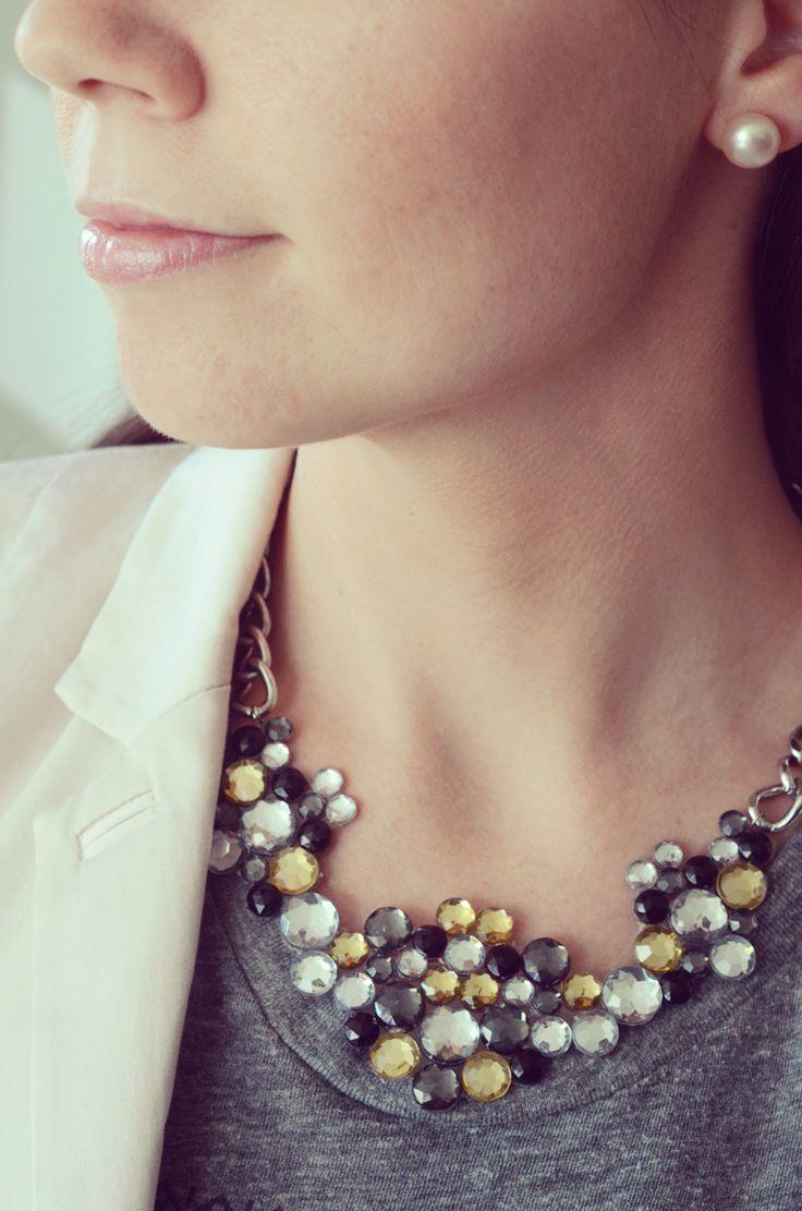 {Tutorial} DIY Gemstone Statement Necklace