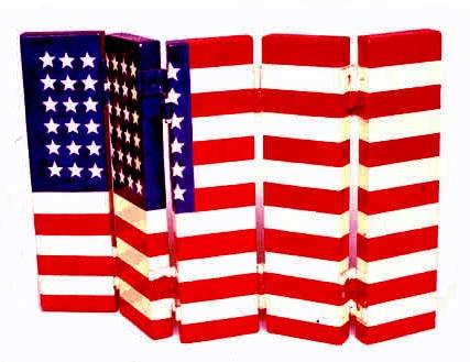 folded us flag