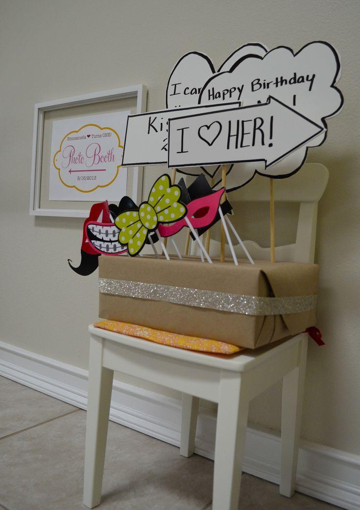 DIY Photo Booth Props, Sign, Backdrop, Prop Display Box
