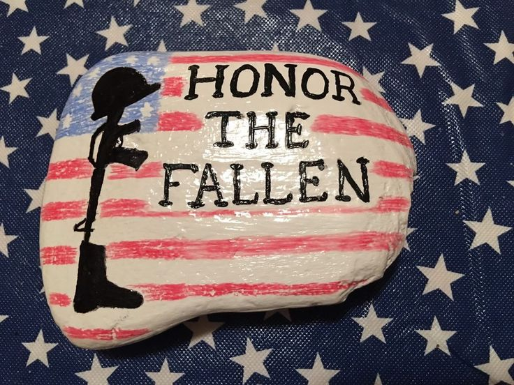 Any patriotic American would love this hand painted fallen soldier rock. My husband painted this rock for a contest and got second place! If you hide and hunt rocks for fun then this rock would be perfect! Thanks for looking! | eBay!