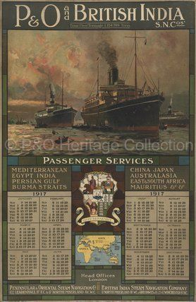 P&O and British India by Arthur James Weatherall BURGESS R.I., R.B.C., R.O.I., R.S.M.A. at P&O Prints