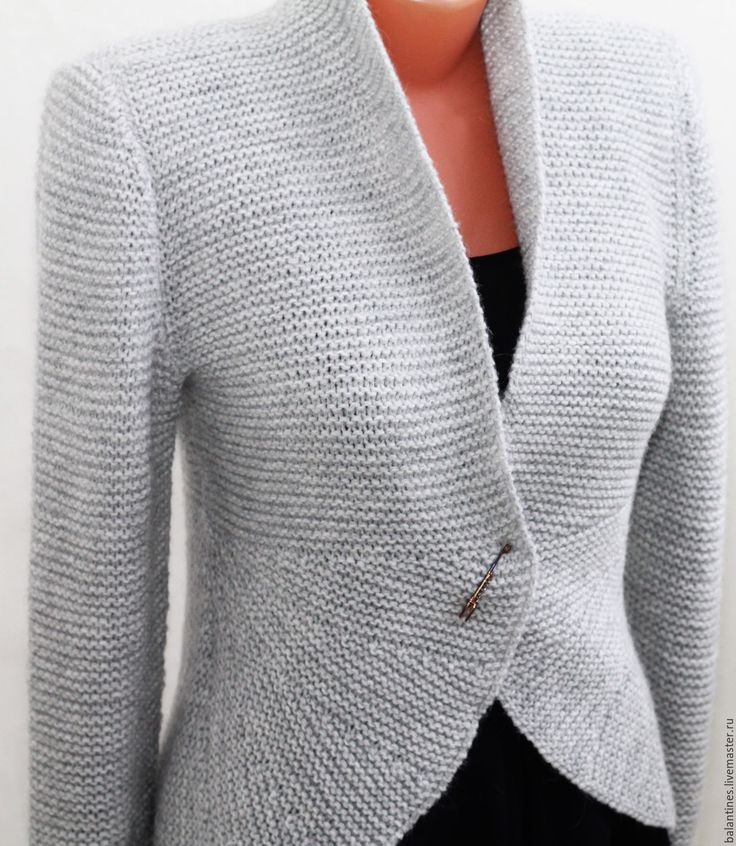 Buy Knitted jacket with two way elegant Anna - jacket knitted, knitted jacket