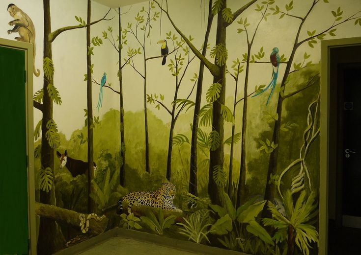 Bedroom wall stickers tree - Murals Painted Wall Murals Mural Wall Hand Painted Walls Jungle Tree