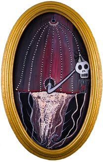 """OSIRIS"" Oil on Oval Canvas Board  Framed 26' x 15"" 2017 #painting #oilpainting #osiris #egyptiangod #afterlife #lordoflove #kingoftheliving  #symbolism #originalart #mythological #art #artcollecting #artbuyers #artlovers #artcollectors #emergingartist"
