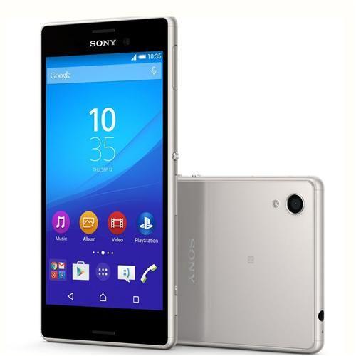 """Smartphone Sony Xperia M4 Aqua Dual Prata à Prova D'água* com 16GB, Tela 5"""", Dual Chip, 4G, Câmera 13MP, Android 5.0 e Processador Octa-Core"""