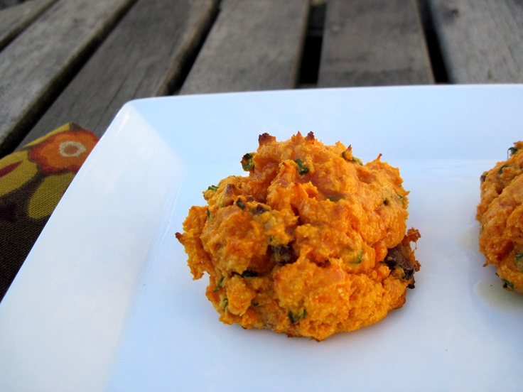 Thanksgiving Side Dish - Paleo Bacon and Chive Sweet Potato Biscuits
