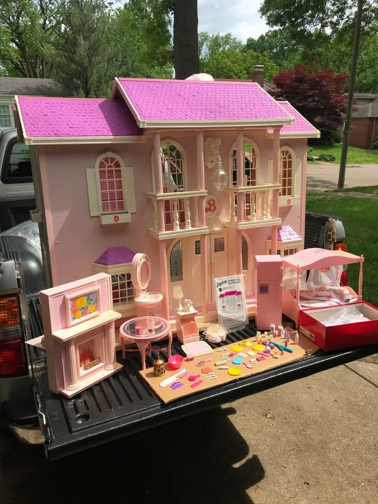 1990 barbie magical mansion giant doll house lights local