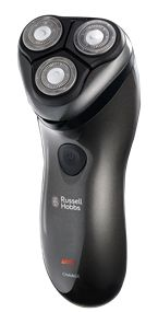 Features/Specifications Product code: RHRS02 Rechargeable shaver can be used with shaving gel 3 Floating rotary heads follows contours of the face for a closer smoother shave Cutting blade with 13 ◦ angle  for a better shave. Universal voltage (100-240V) High speed motor Waterproof Self sharpening blades Power: rechargeable/mains 1.5 hour quick charge Operating time: 45-50 minutes
