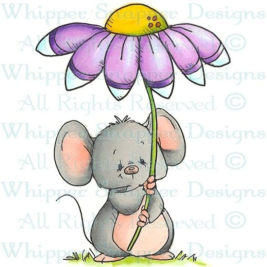 Daisy - Mice - Animals - Rubber Stamps - Shop