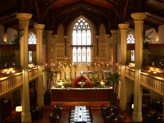Zizzi - restaurant in historic church - Cheltenham - UK excellent food…...