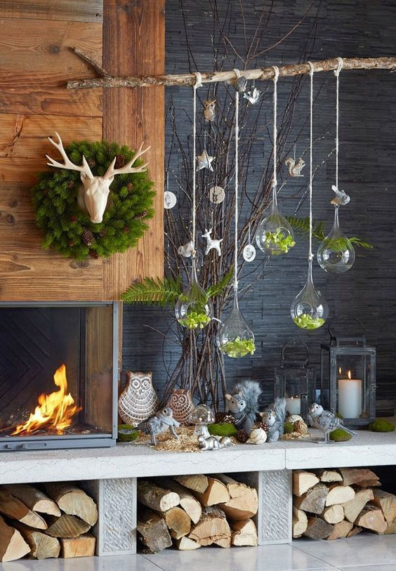 Anstelle eines Weihnachtsbaumes schmücken wir dieses Jahr einen charmanten Astbaum