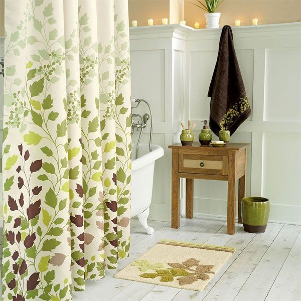 Green Leaf Shower Curtain Decorating Ideas What To Do Green