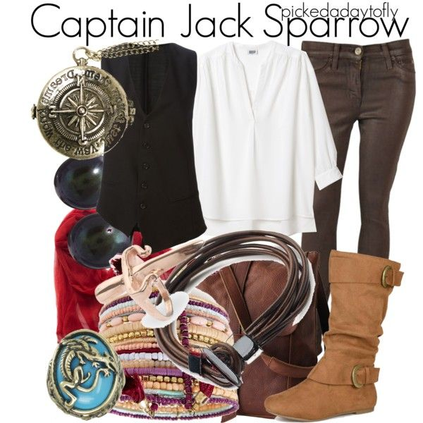 Captain Jack Sparrow by pickedadaytofly on Polyvore featuring Ann Demeulemeester, Hudson, Journee Collection, BP., Disney Couture, LeiVanKash, From the Road, disney, captainjacksparrow and PiratesOfTheCararibbean