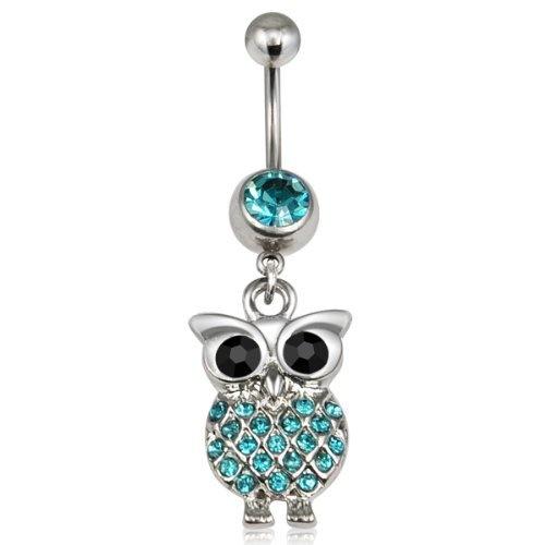 Crystal Retro Owl Bird Pendant Stainless Steel Dangle Navel Ring Belly Bar Cute Body Piercing Jewelry (Blue) World Pride,http://www.amazon.com/dp/B00CKKQL0Q/ref=cm_sw_r_pi_dp_ZB0Irb857DFD4983