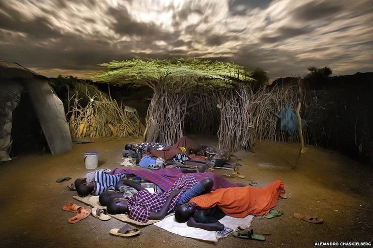 Elisabeth and her eight children live in the village of Natoo in Northern Turkana-ALEJANDRO CHASKIELBERG