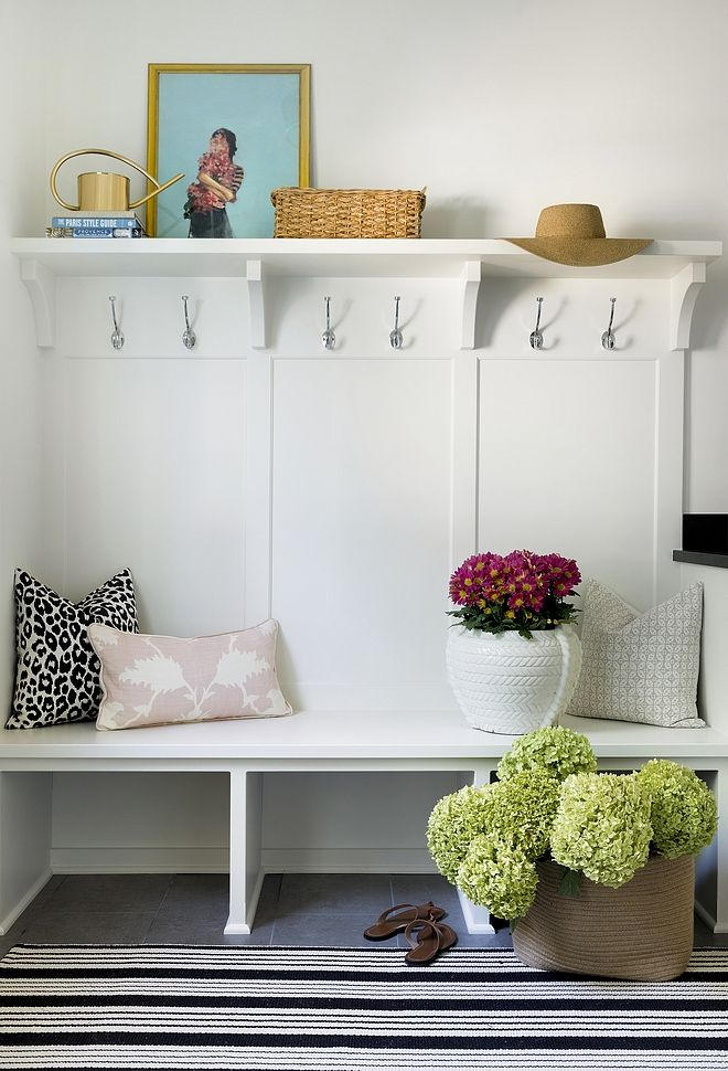 Mudroom Bench And Shelf Simple Inexpensive Ideas