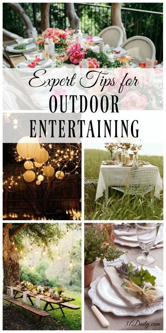 Expert Tips for Outdoor Entertaining