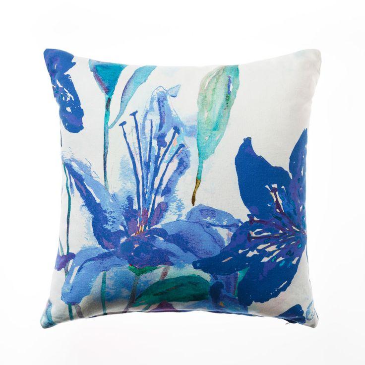 Mercer + Reid Indigo Bloom - Soft Furnishings Cushions - Adairs Online