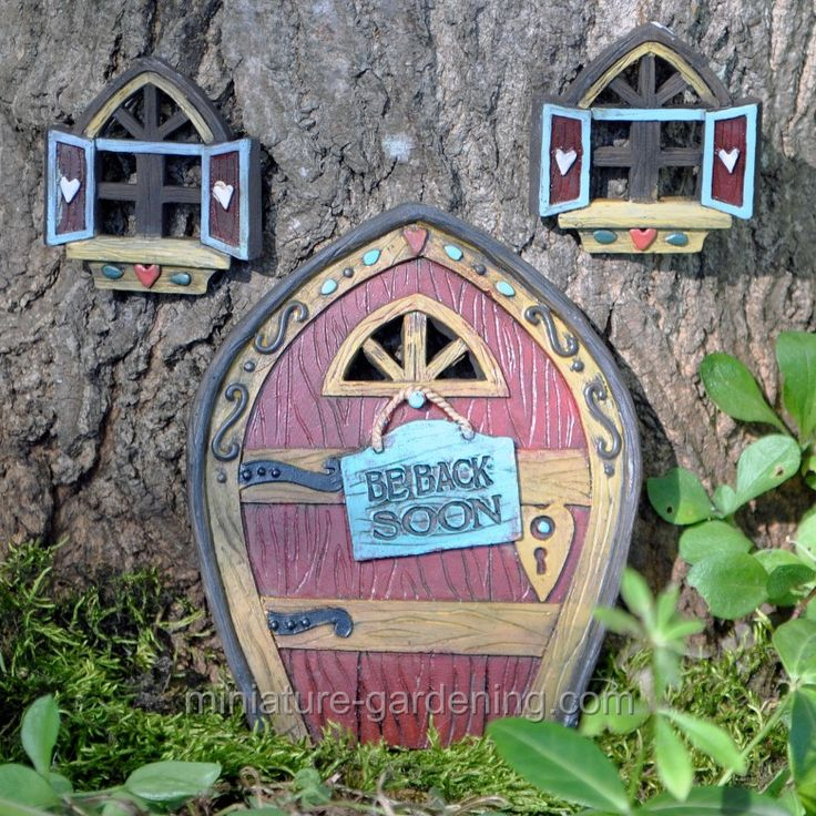 17 best images about garden entrances of all sizes on for Miniature fairy garden doors