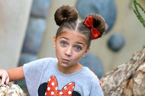 Minnie Mouse Buns | 21 Quick Kid Hairstyles For Extremely Busy Parents