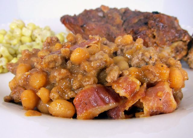 ... Beef & Baked Bean Casserole | Italian sausages, Bacon and Baked beans