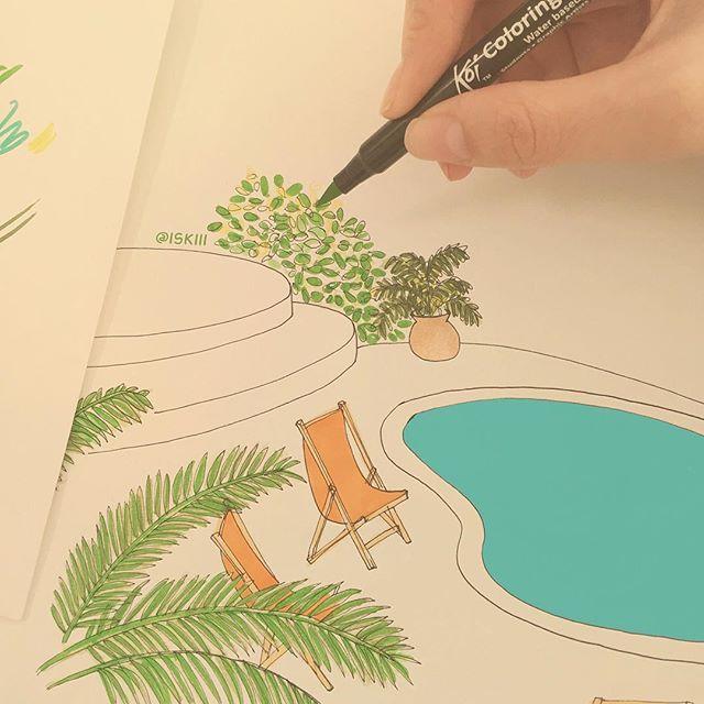 jungle lodge  ❑ illustration by @ISKIII www.iskistudio.com