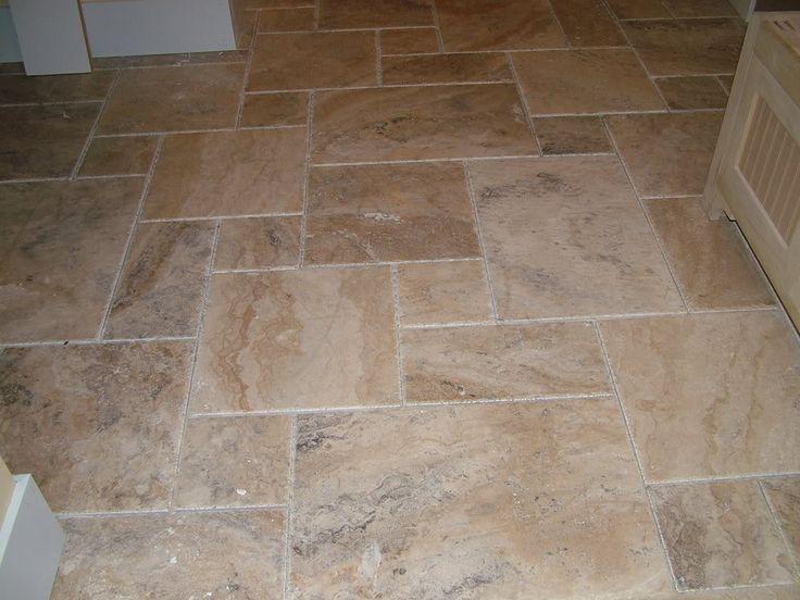 Slate flooring in versailles pattern anyone done it Travertine kitchen floor ideas