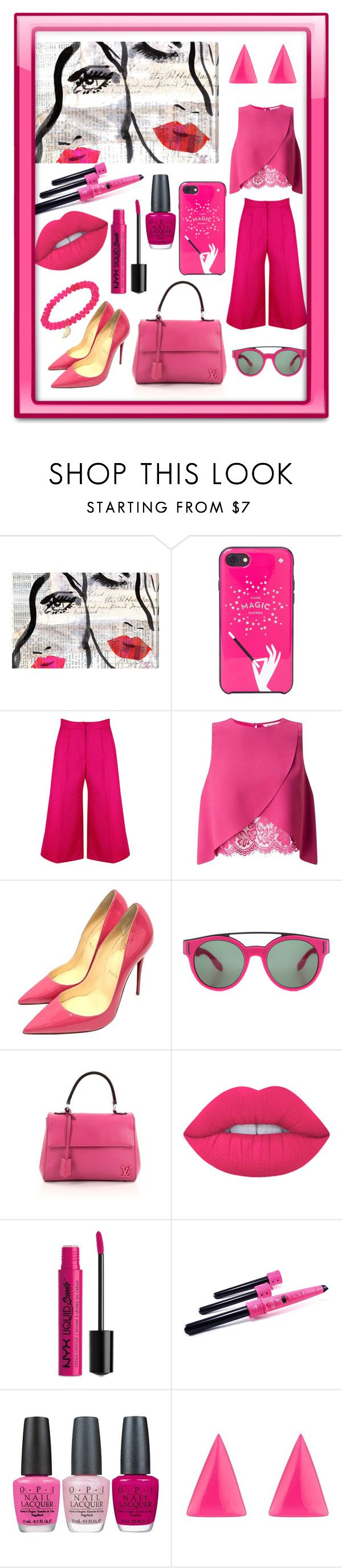 """Wearable Art"" by mandimwpink ❤ liked on Polyvore featuring Oliver Gal Artist Co., Kate Spade, Miss Selfridge, Christian Louboutin, Givenchy, Louis Vuitton, Lime Crime, NYX, Envy and OPI"
