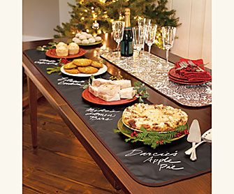 Chalkcloth Runners & Placemats....clever.