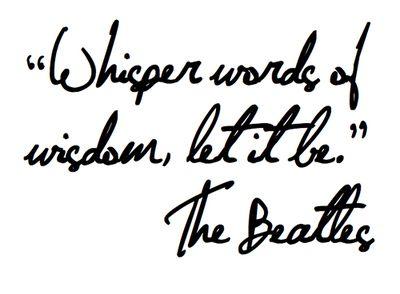 Let It Be ....