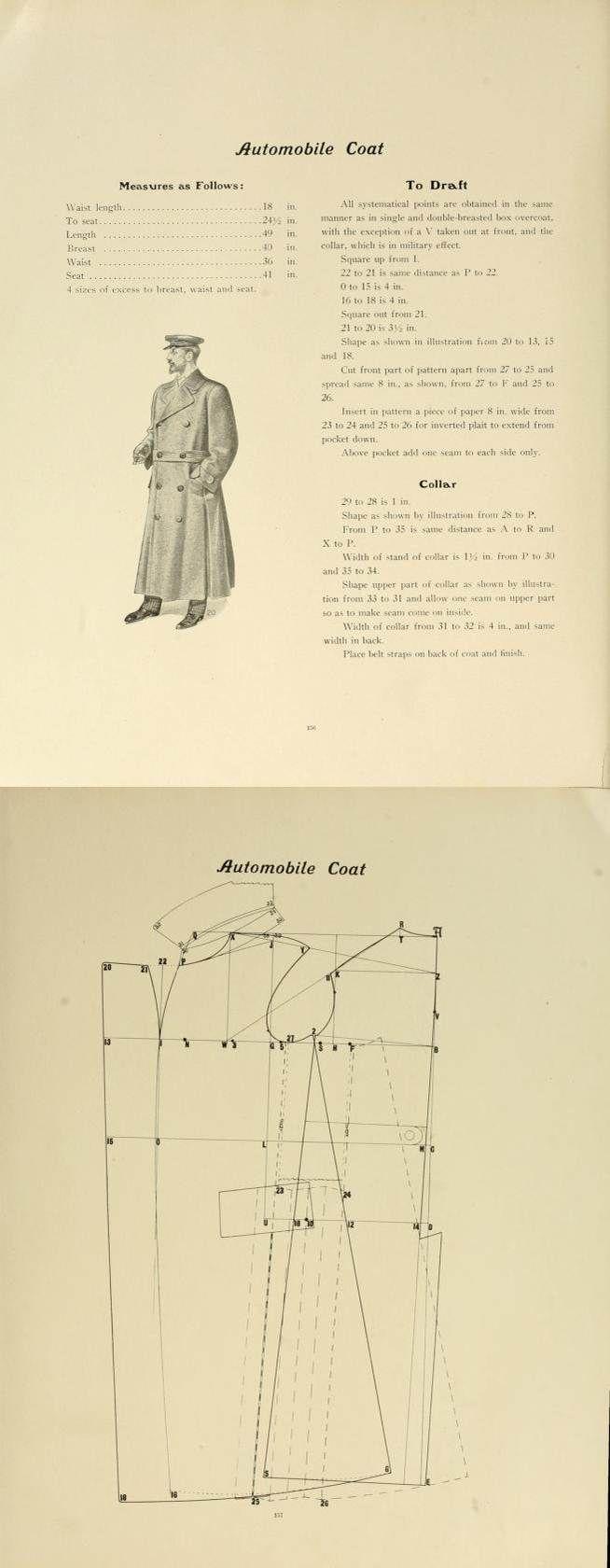 1907 men's automobile coat