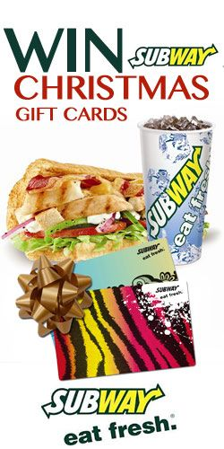 Do you love Subway #sandwiches? #Repin and get in on this #Subway Gift Card #Giveaway. #competition #win #food